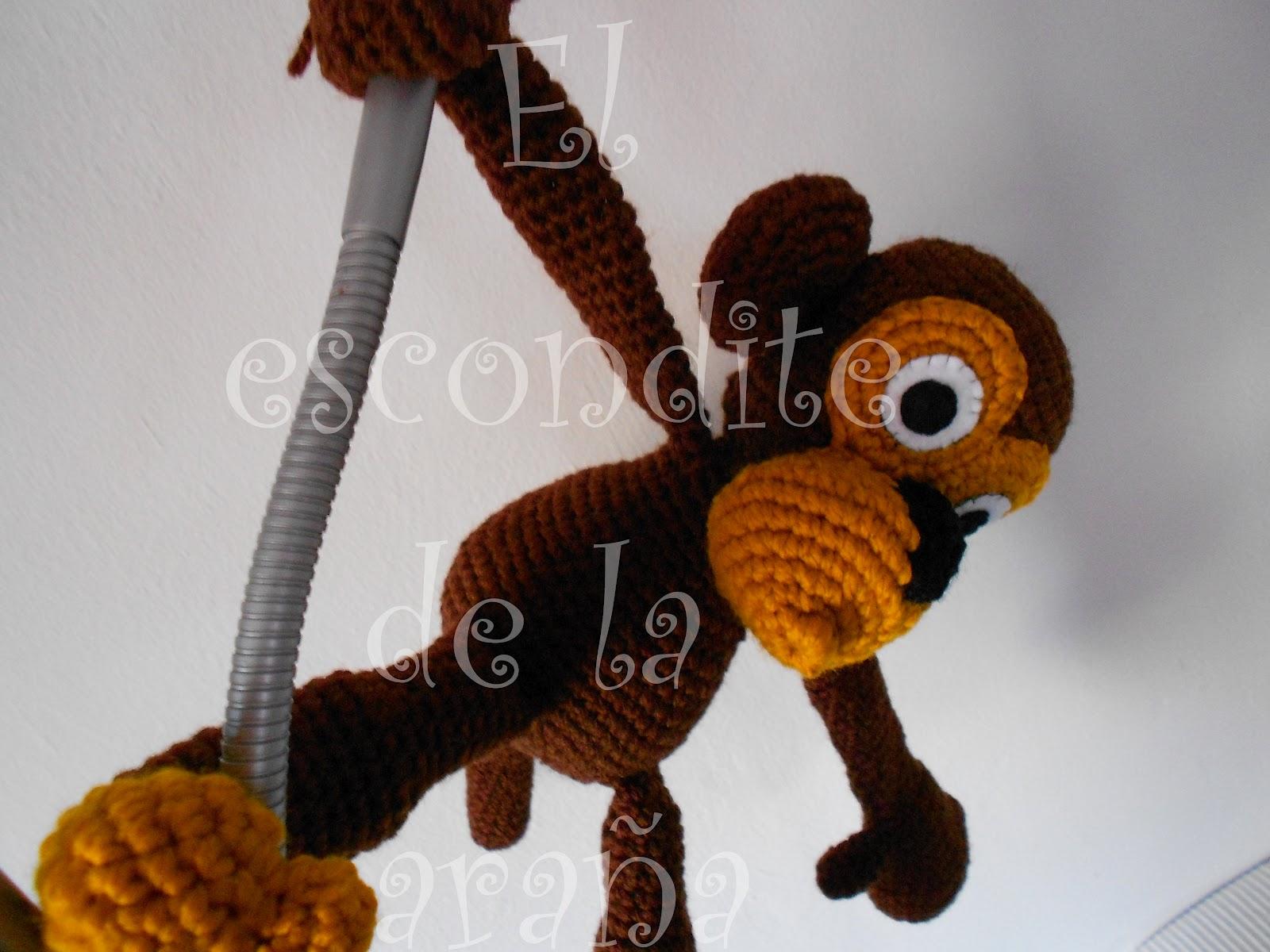 El escondite de la araña: Mono amigurumi