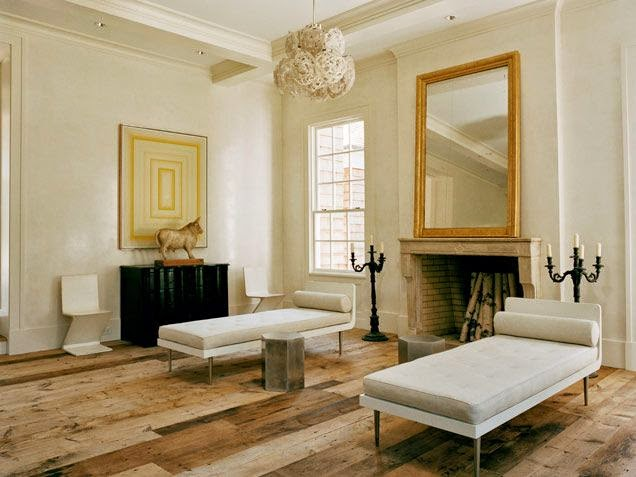 modern rustic reclaimed wood floor