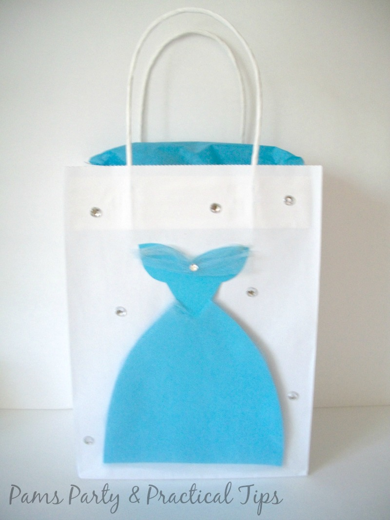 Cinderella party bag with gown