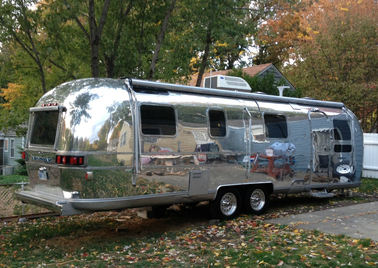 Luxe Land Yacht: Fall Leaves and the Airstream