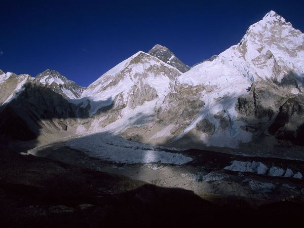 Mount Everest and Mount Nuptse