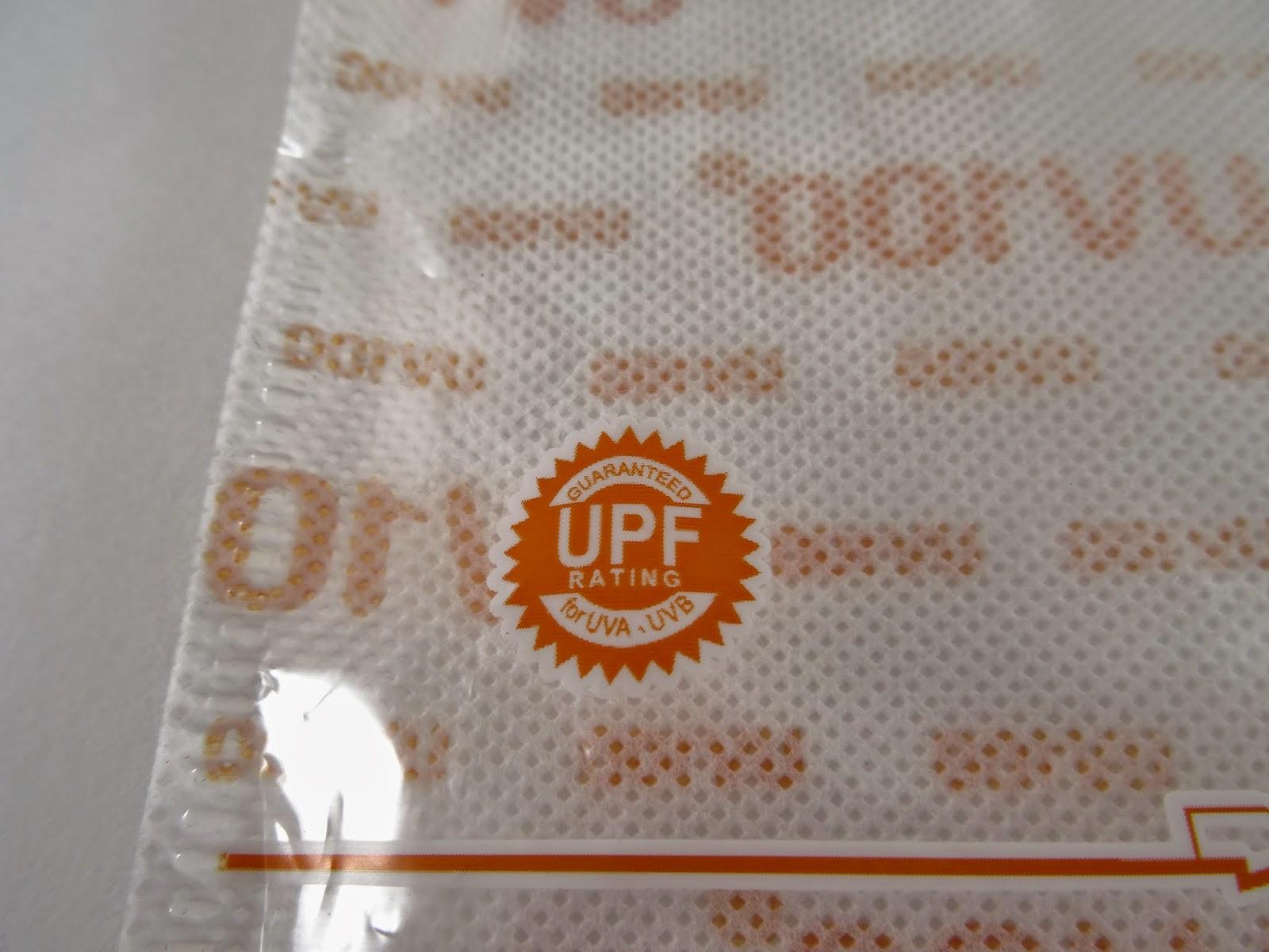 UPF 50+ FOR UVA UVB