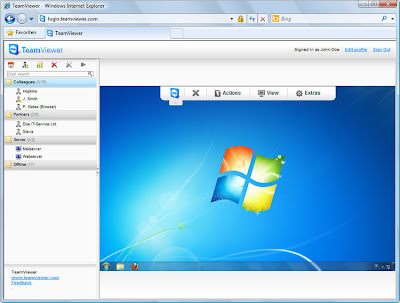 Team viewer remote pc