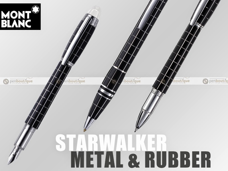 Montblanc Starwalker Black Rubber and Platinum