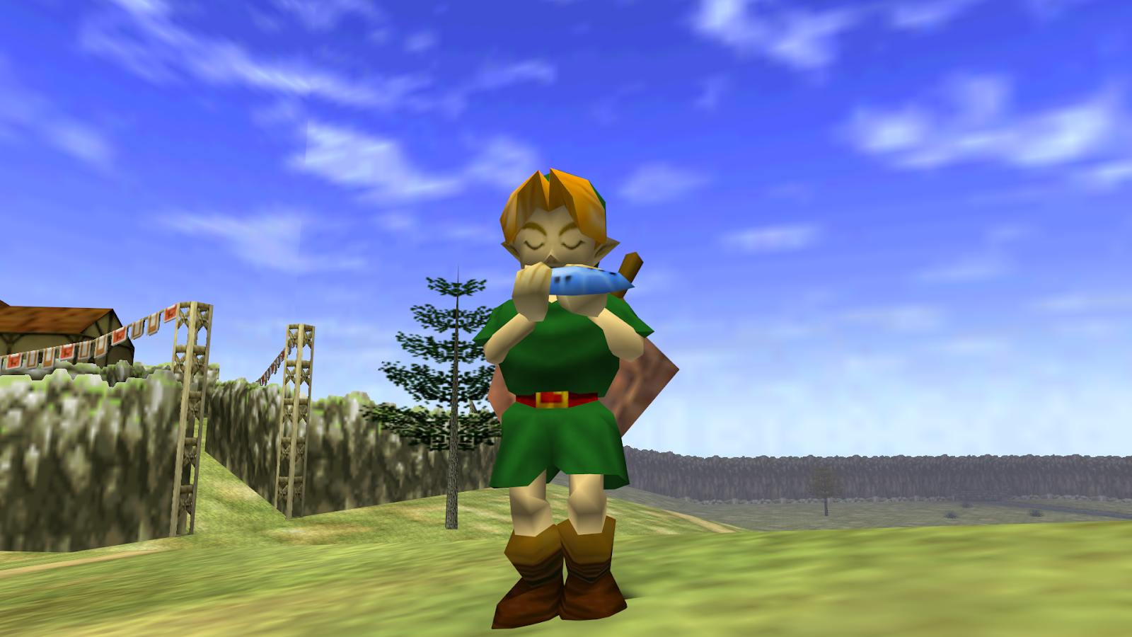 legend of zelda ocarina of time screen shot child link