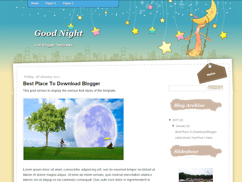 Good Night Blogger Theme