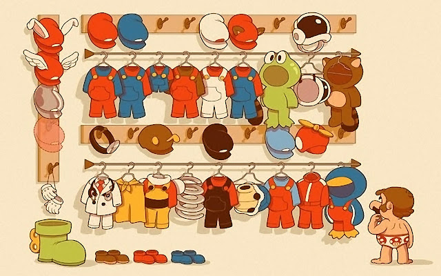 Super Mario, wardrobe, funny, picture, clothes, uniform