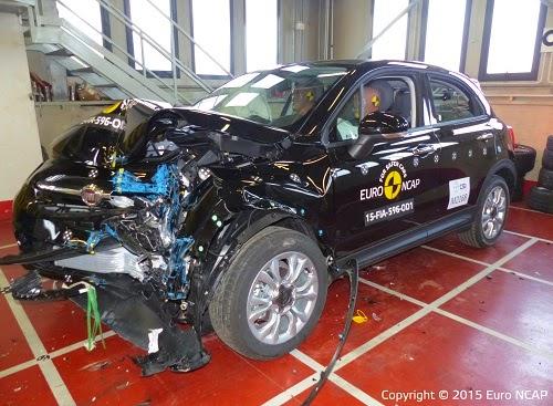 Fiat 500X Euro NCAP Test Car