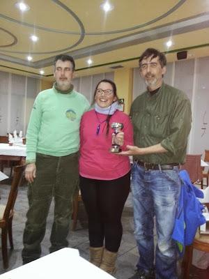 entrega de premios a los miembros del club bejarano