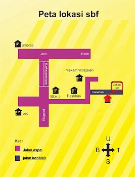 peta lokasi sbf