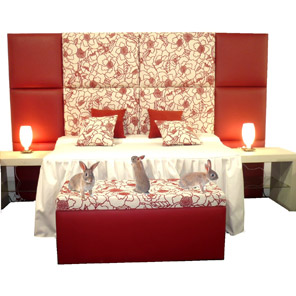 Cabeceras tapizadas para cama camas tapizadas creaciones kiara - Modelos de cabeceras de cama ...