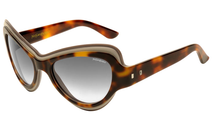Yves Saint Laurent SS2012 sunglasses: layer it on: YSL6366