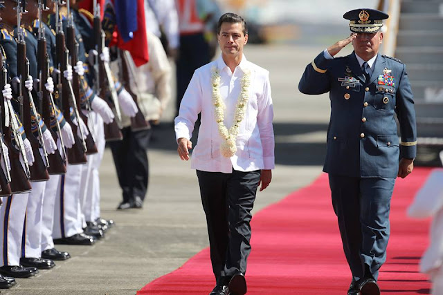 Mexican President Enrique Peña Nieto arrived in Manila