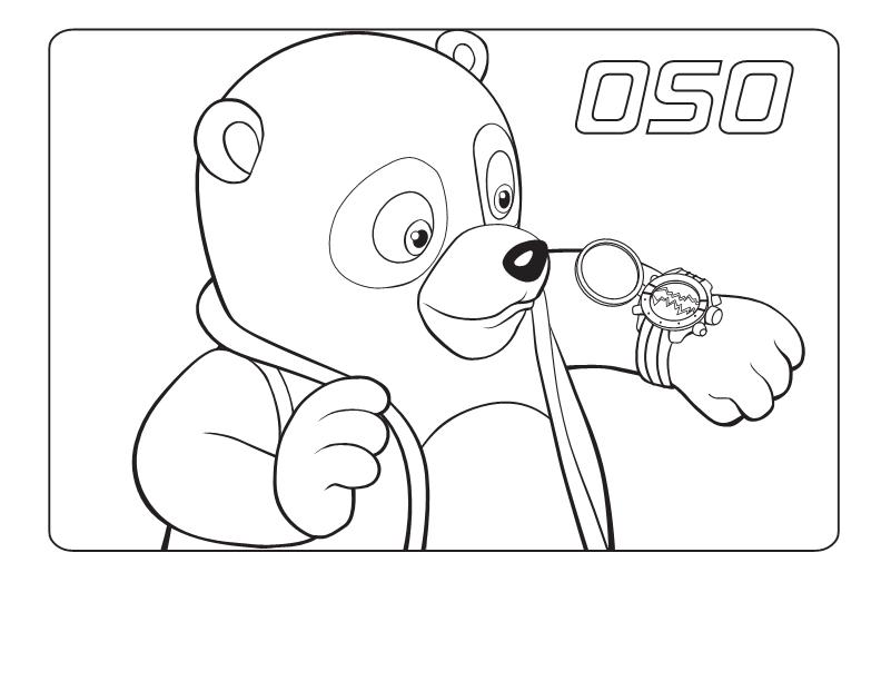 Dibujos De Relojes Para Imprimir. Top Oso Agente Especial Observando ...