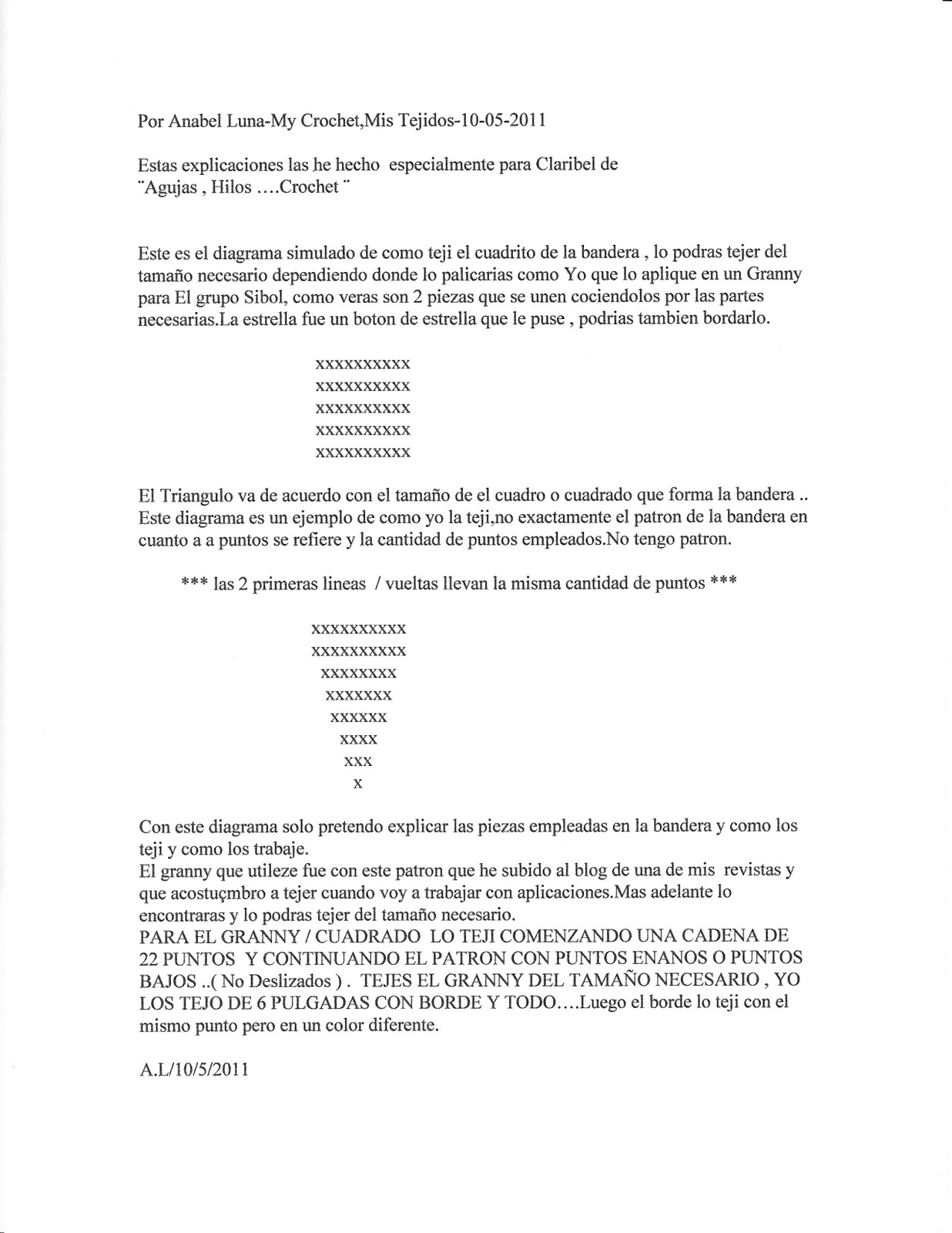 Increíble Los Patrones De Ganchillo Bandera Friso - Ideas de ...
