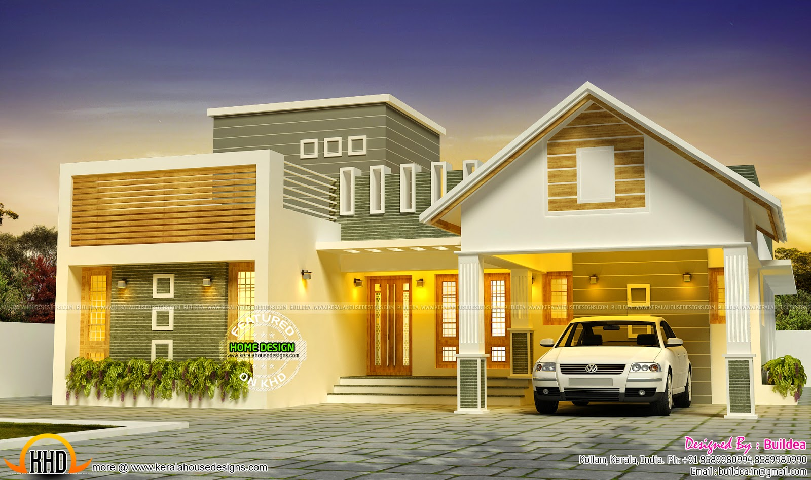 Awesome dream home design kerala home design and floor plans for Dream home plans