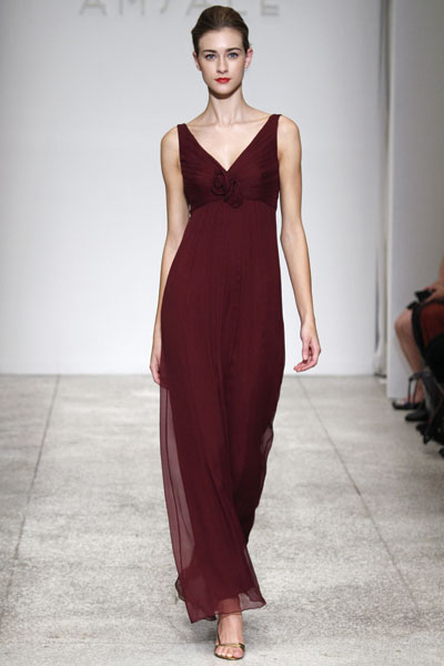 Burgundy Maternity Bridesmaid Dress