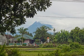 Mt. Merapi viewed from Yogya