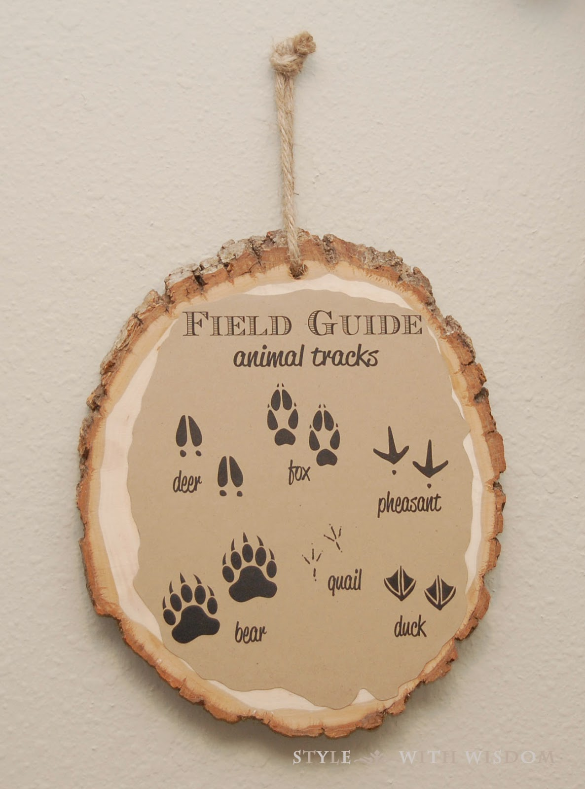 Woodland Nursery field guide wall art