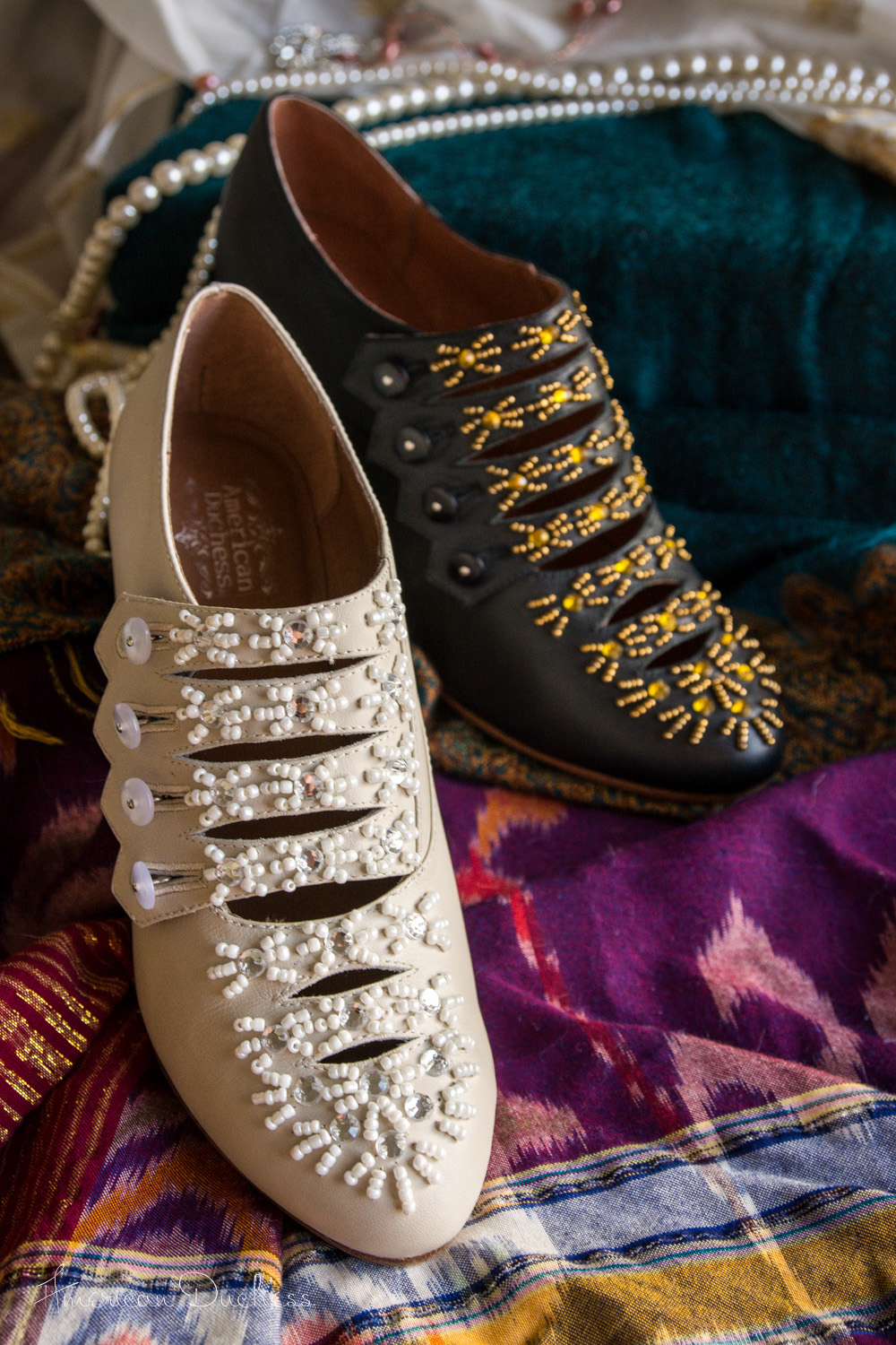 Savoy Edwardian Beaded Shoes by American Duchess