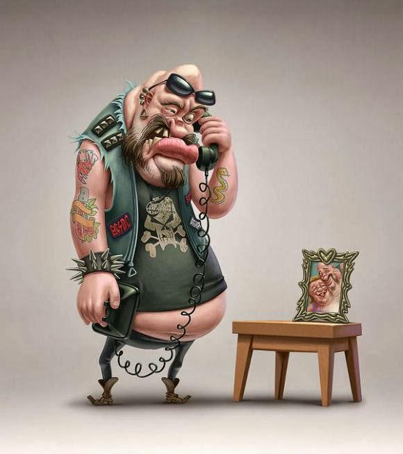 مجموعة رائعة من لوحات الكاريكاتير للفنان العالمي Oscar Ramos