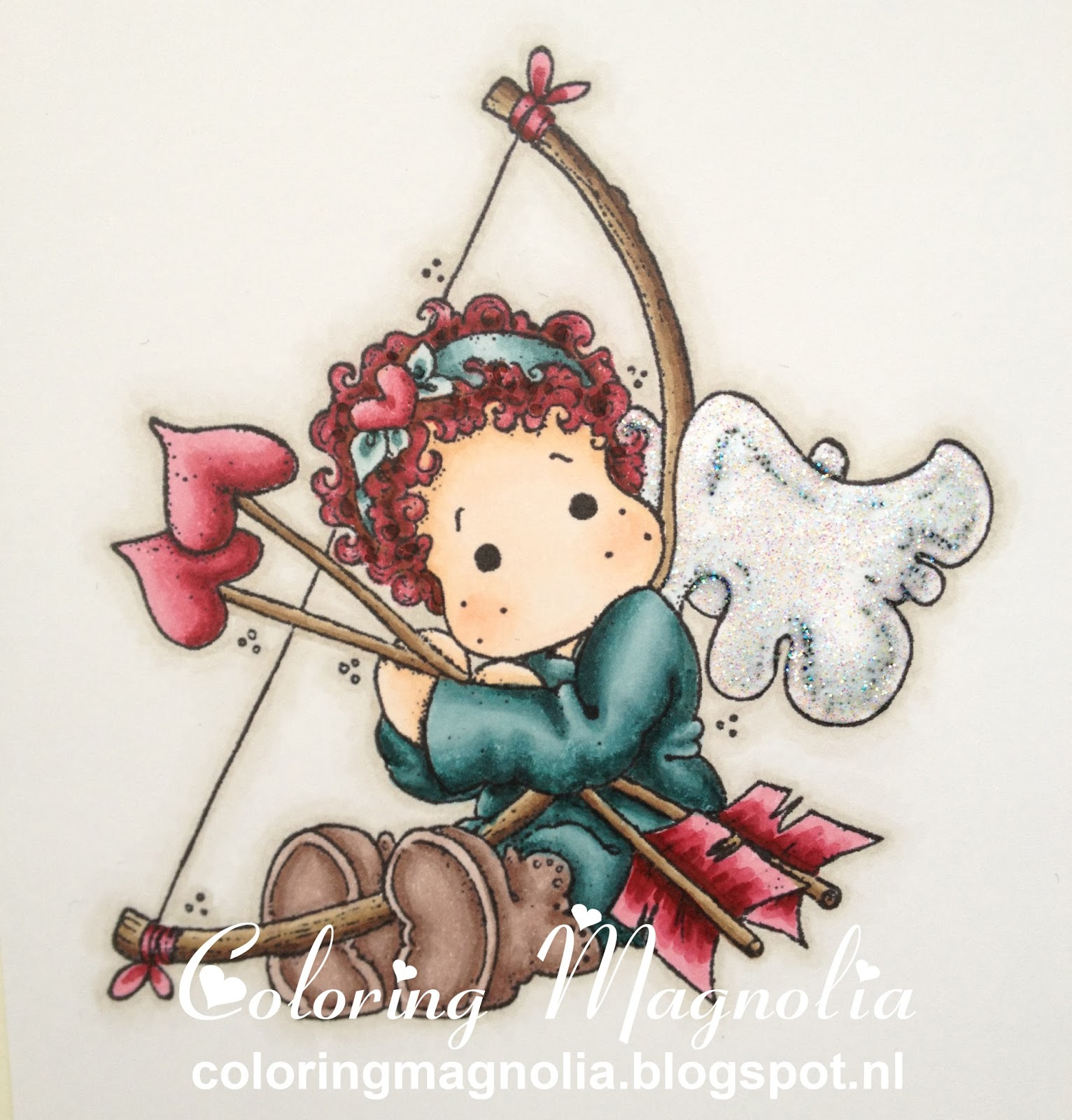 Coloring Magnolia Stamp 2013 With Love Collection - Tilda With Heart Arrow