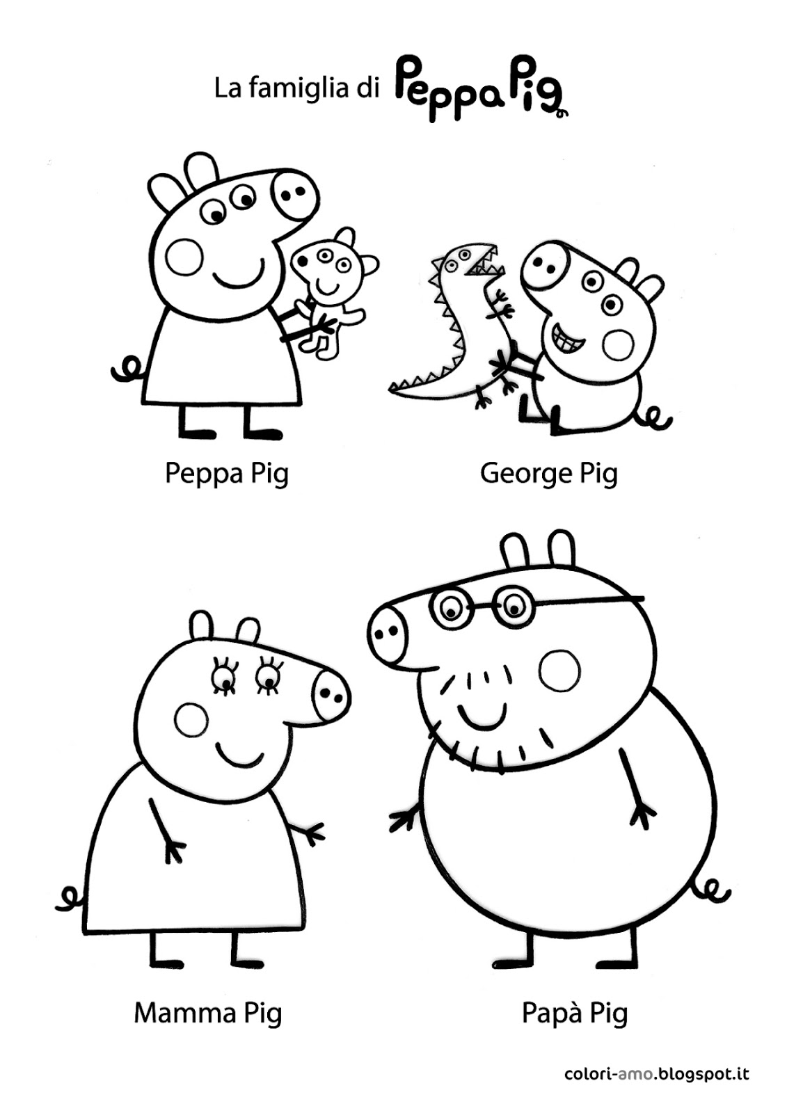 Free Coloring Pages Of Peppa Pig And Friends