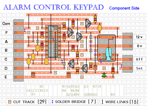 4 Digit Alarm Control Keypad