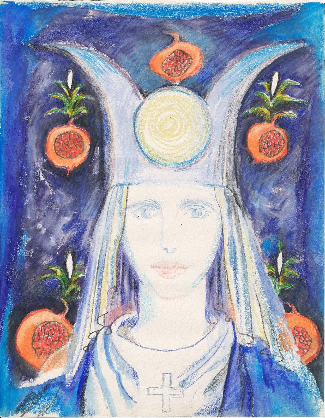 Tarot Priestess, by Jane Adams 2003.