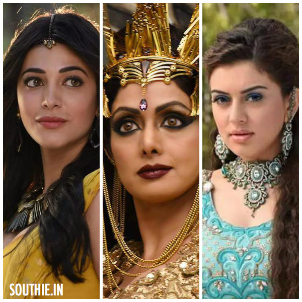 Shruti Haasan, Sridevi and Hansika in Puli.