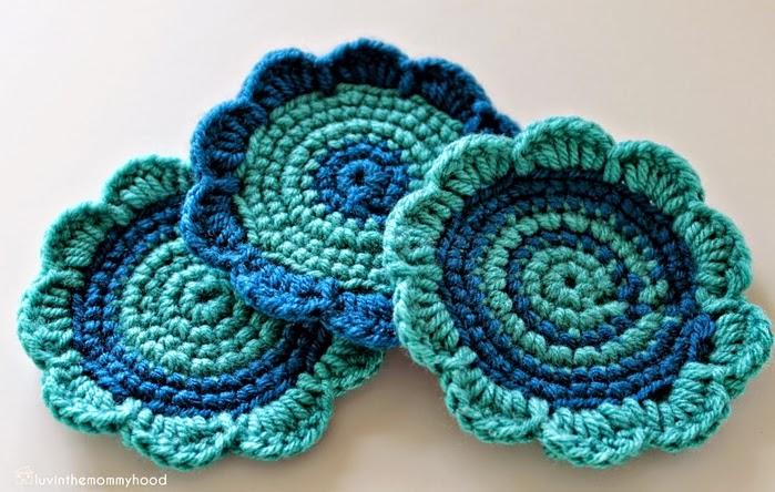 Posavasos florales al crochet con paso a paso crochet y - Posavasos de ganchillo ...