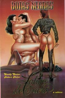 Botas negras, látigo de cuero 1983