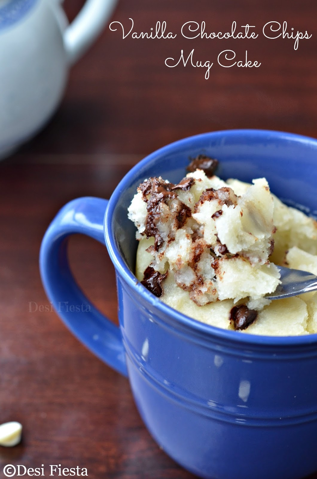 Gooey Vanilla Chocolate Chip Mug Cake ( In pressure cooker ...