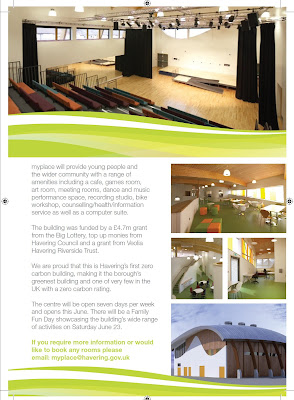 Descritption and images of myplace centre in Harold Hill, Essex