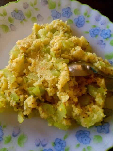 Seemebadnekayi Palya,Chow Chow Upma,Uppittu,Chayote Squash