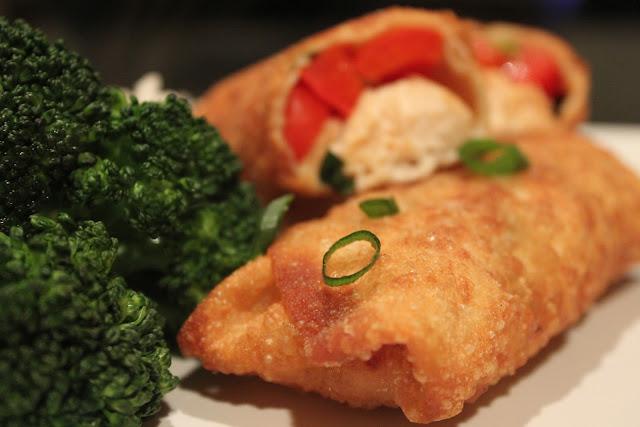 Chicken teriyaki egg rolls