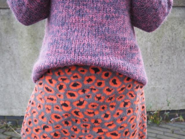 Fluffy Leopard Print Skirt