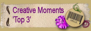 Top 3 at Creative Moments Challenge Blog