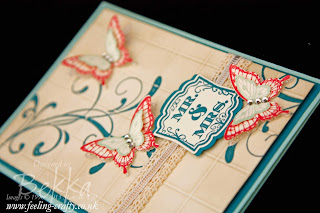Label Love Butterfly Wedding Card by UK based Stampin' Up! Demonstrator Bekka Prideaux - check out her blog for lots of great ideas, hints and tips