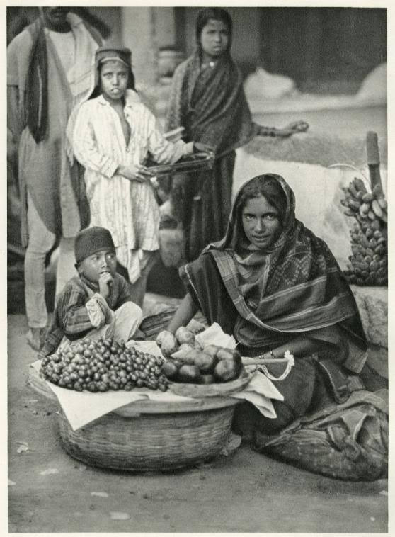Street Fruit Vendor in Hyderabad, Deccan - India 1928