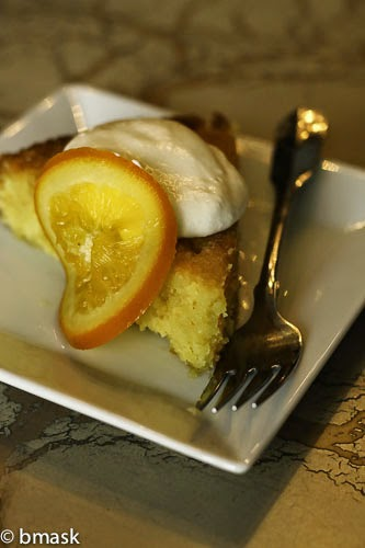 Orange Syrup Cake with Candied Oranges,