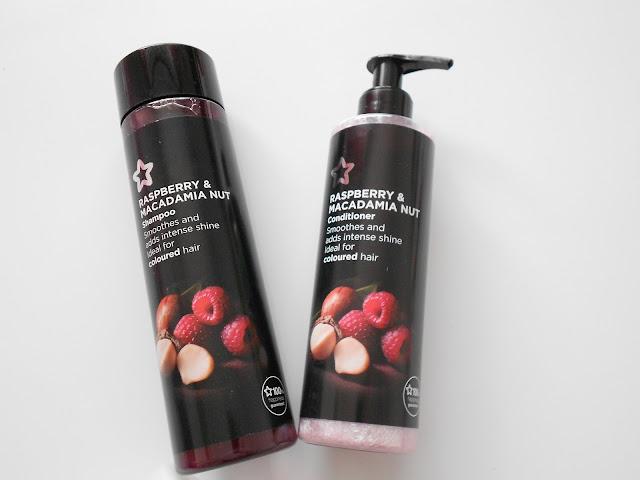 Superdrug haul rasberry and macademia haircare