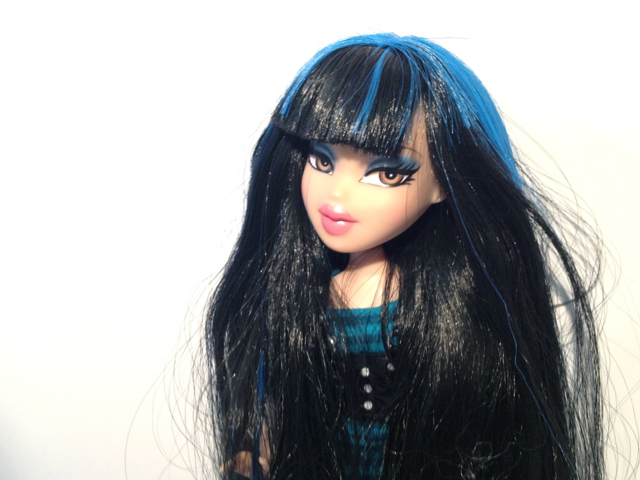 "Bratz 10/"" Doll Clothes Cloe Treasures Blue /& Black Striped Head Scarf"