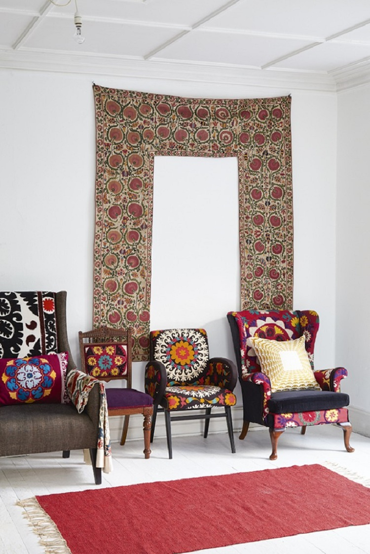 Suzani Covered Chairs