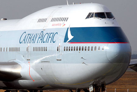 direction  cathay pacific a380