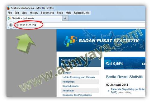 Gambar: Membuka website dengan menggunakan IP Address