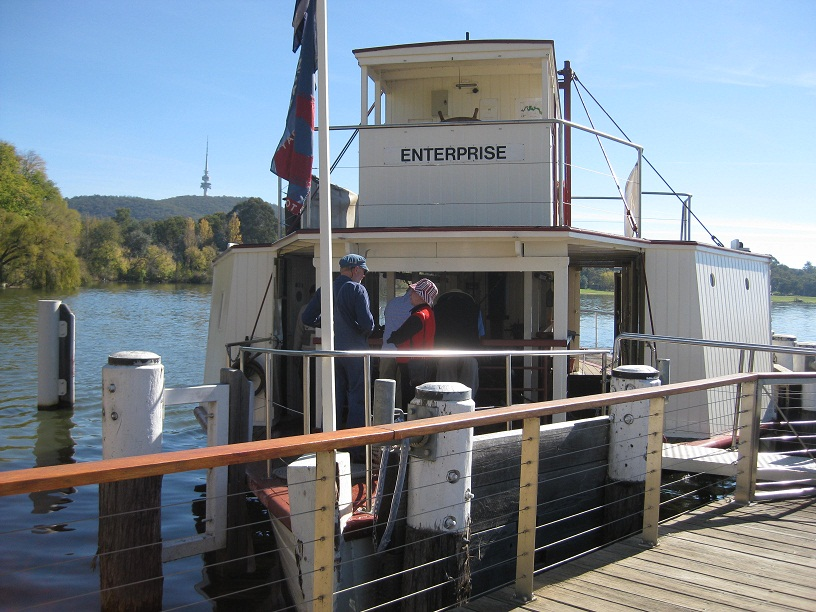 Sitting At The Little Dock On Lake Burley Griffin Canberra Australia Is Charming Steam Powered Paddle Boat Enterprise One Of Oldest Working