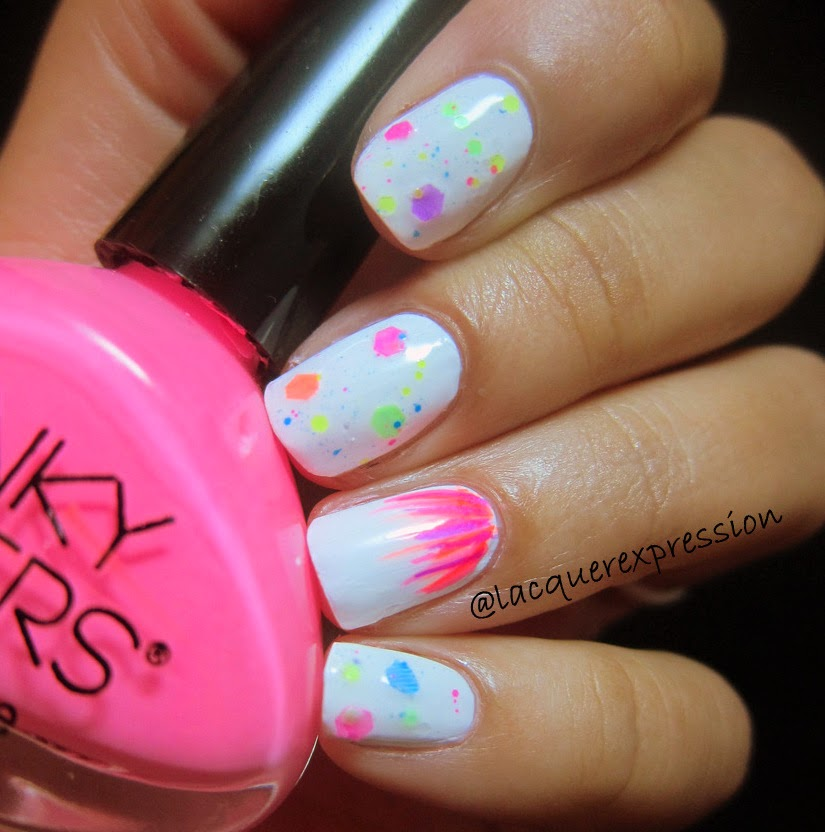 lazer pink nail polish by funky fingers