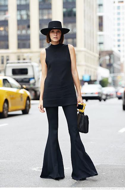 Pantalones de campana street style