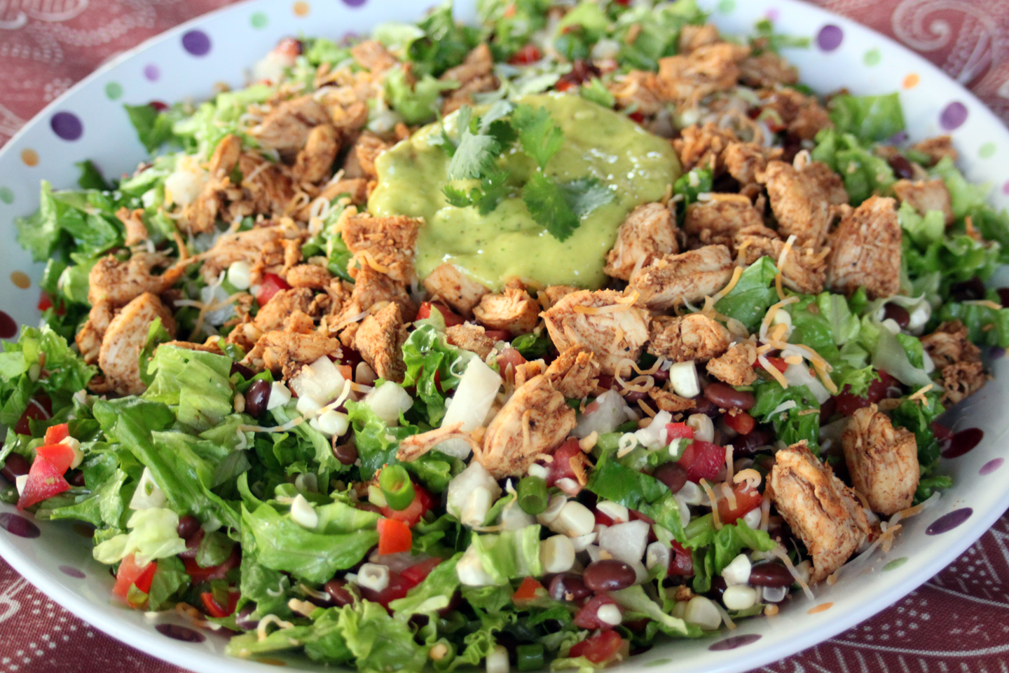 ... Chopped Southwest Chicken Salad with Chipotle Mango Avocado Dressing
